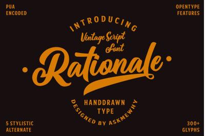 Rationale VIntage Font Script