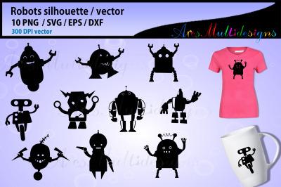 Robot silhouette graphics