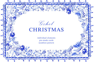 Christmas gzhel set