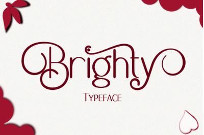 Brighty Typeface