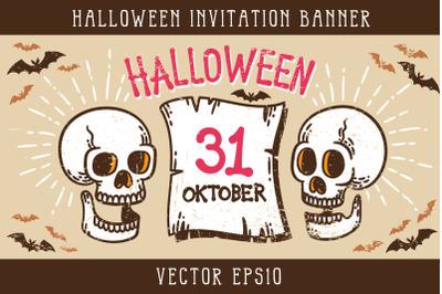 Halloween Invitation Banner