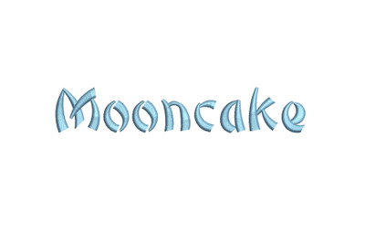 Moon Cake 15 sizes embroidery font