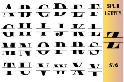 Split Letter SVG A-Z For Cricut|Complete Alphabet Split Letter SVG|Ins