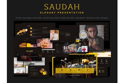 Saudah elegant presentation slide theme