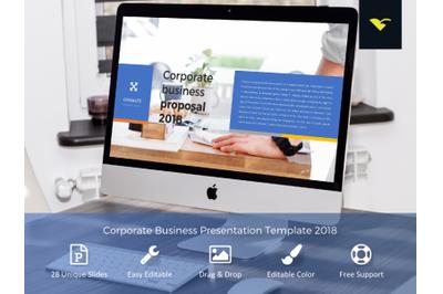 Corporate business presentation template