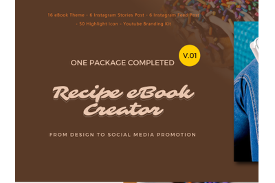The Completed Recipe eBook Creator From Design To Promotional