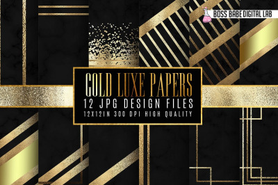 Gold Luxe Digital Papers