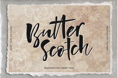 Butter Scotch Script Font