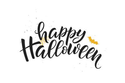Happy Halloween calligraphy.
