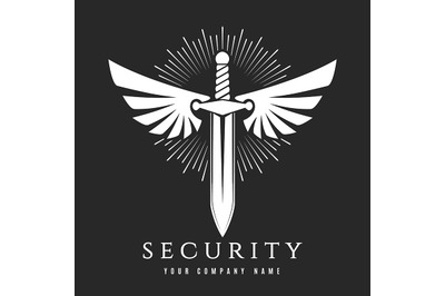 Sword with Wings Security Company Emblem