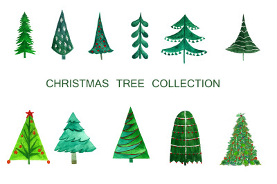 Collection of Christmas trees .