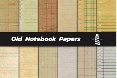 Vintage Notebook Digital Paper