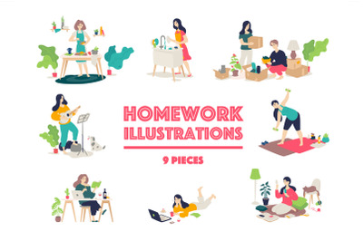 Homework Illustrations