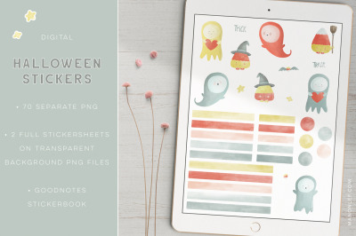 Halloween Goodnotes Stickers - Digital planner stickers