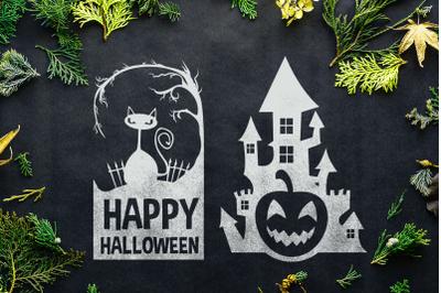 Halloween SVG: Happy Halloween / Pumpkin Castle