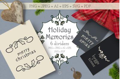 Christmas SVG bundle, Christmas clipart, digital stamps, divider clipa