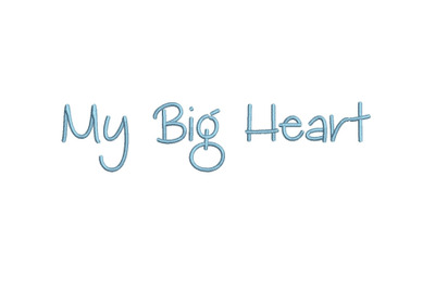 My Big Heart 15 sizes embroidery font (MHA)