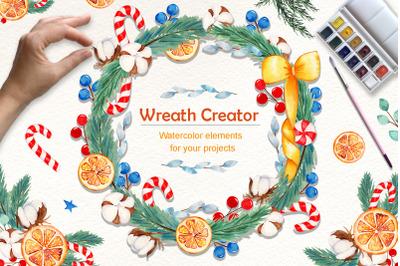 Wreath Creator Watercolor Clipart