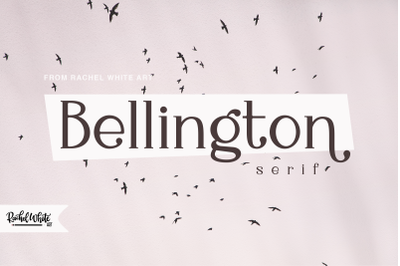 Bellington, a charming serif font
