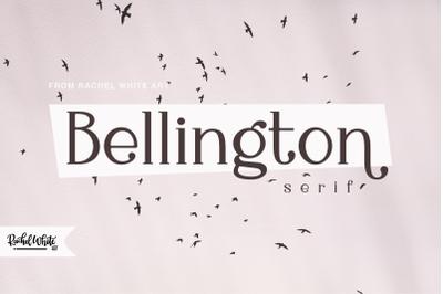 Bellington, a charming serif font