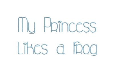 My Princess Likes a Frog 15 sizes embroidery font