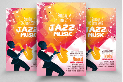 Jazz Music Party Flyer Template