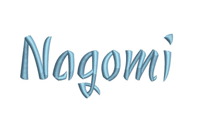 Nagomi 15 sizes embroidery font (RLA)