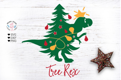 Tree Rex - Christmas Kids T-Shirt Cut File