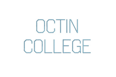 Octin College Light 15 sizes embroidery font (RLA)