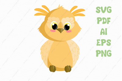 Cute owl svg clipart