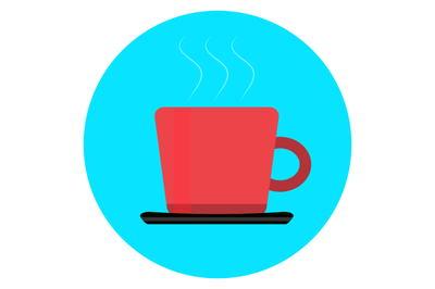 Cup of coffee tea icon vector