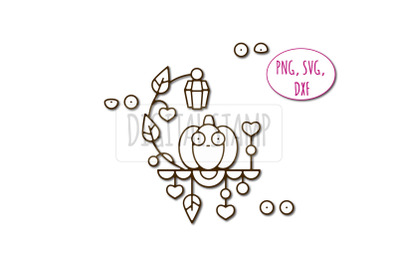 Pumpkin photoshop brush abr, dxf, svg, png. Nightly fears.