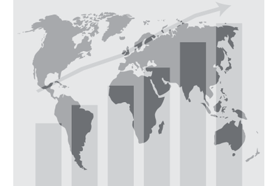 Global world development graphic