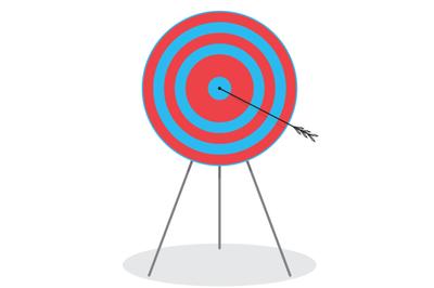 Right in the bullseye. Arrow in target