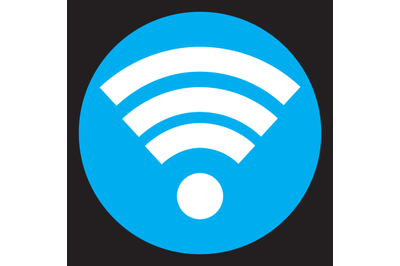 Wifi icon flat design vector