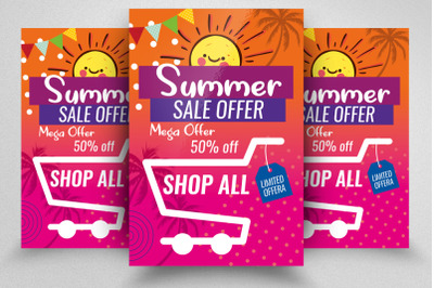 Summer Big Sale Offer Flyer Template
