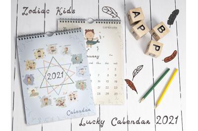 Zodiac Kids Lucky Calendar 2021