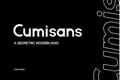 Cumisans - a Geometric Modern Sans