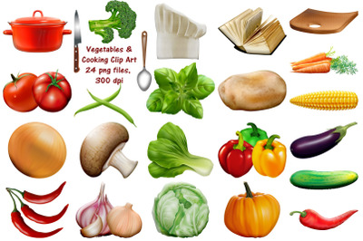 Vegetables and Cooking Clip Art
