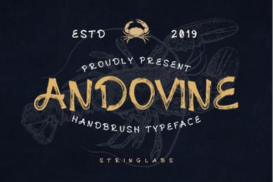 Andovine - Handbrush Typeface