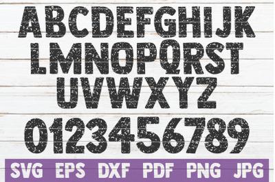 Distressed Alphabet SVG Cut File