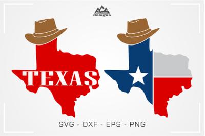 Texas State Map Cowboy Svg Design