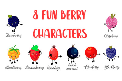 8 Fun Berry Characters