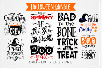 10 Quotes Halloween Bundle Svg Design