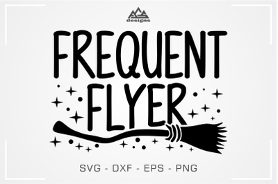 Frequent Flyer Halloween Witch Broom Svg Design
