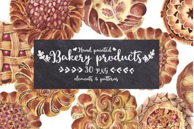 Baking bread-bakery watercolor PNG