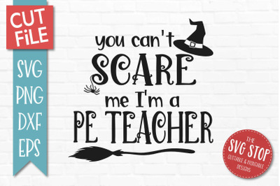 PE Teacher-Halloween SVG Cut File