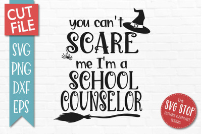 School Counselor- Halloween SVG Cut File