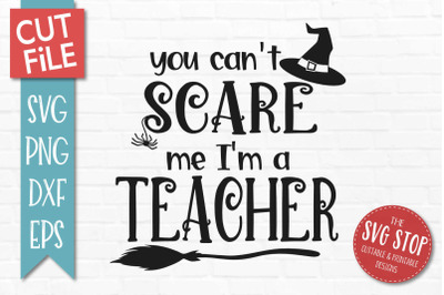 Teacher-Halloween SVG Cut File