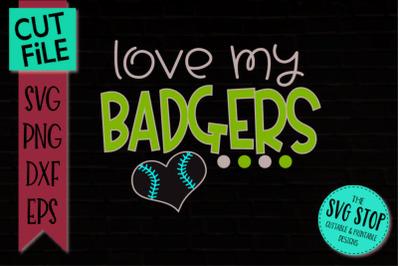 Badgers-Baseball SVG Cut File